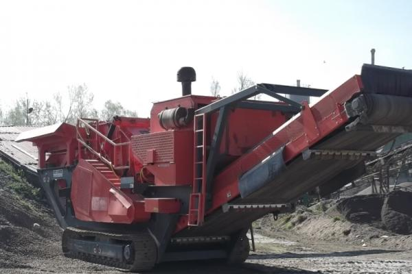 Mobile crusher for stone, production of 150 tons per hour