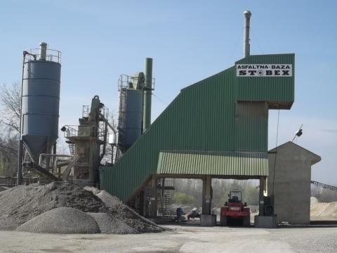 Asphalt base of 100 tons per hour